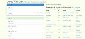 Un sito per registrare il vostro derby name (ed evitare doppioni)